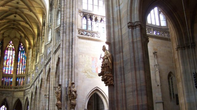 Intérieur église à Prague