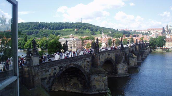Vue sur le pont charles de Prague