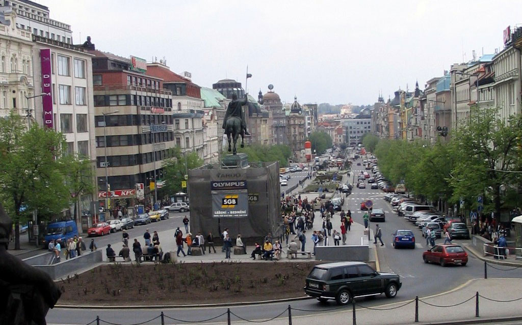 Place venceslas à Prague tourisme