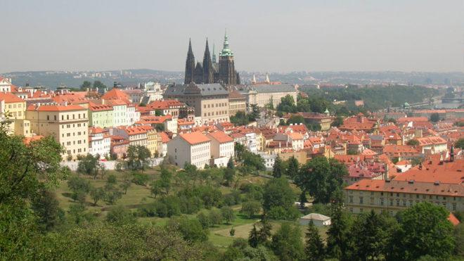 Prague tourisme vue du château